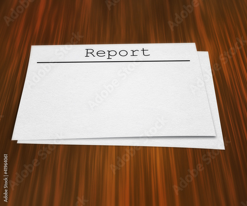 Blank  Report on Table