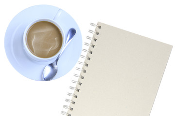 Notebooks, coffee mugs.