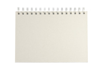 notebook isolated on white
