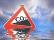 Schild CO2 Anstieg