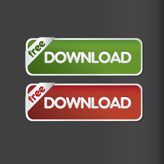 free download button vector