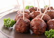grilled meatballs and parsley