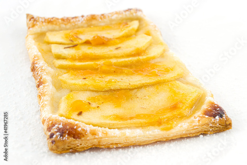 puffs of apple and apricot jam