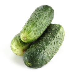 gherkins on white