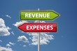 revenue vs. expenses