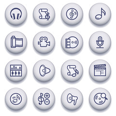 Color buttons with contour icons 8
