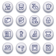 Color buttons with contour icons 17