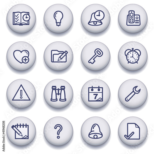 Color buttons with contour icons 7