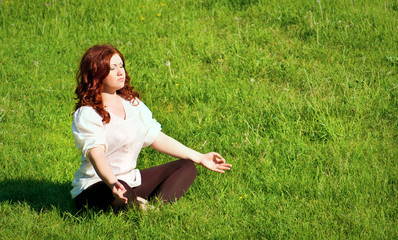 yoga practice  in the outdoors