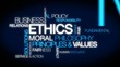 Business Ethics moral principles values tag cloud video