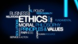 Business Ethics moral principles values tag cloud video poster