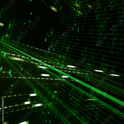 canvas print picture Abstract green matrix background