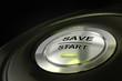 abstract save start button, saving money concept