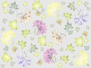 Seamless background. Illustration daisies.