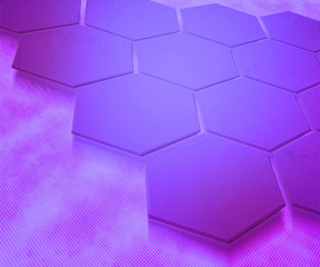 Violet Hexagons Abstract Background
