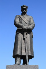 Jozef Pilsudski statue in Warsaw