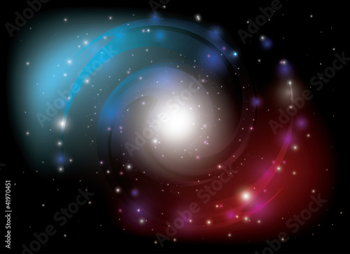 vector colorful spiral galaxy - 41970451