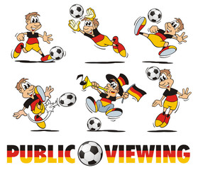 Soccer Germany Cartoon Set