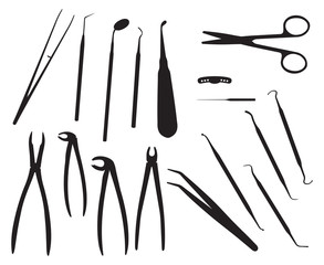 "Dental, Vector illustration of ""dentistry tools"""