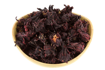 Dried Roselle Flowers (Hibiscus sabdarrifa) to make herbal tea