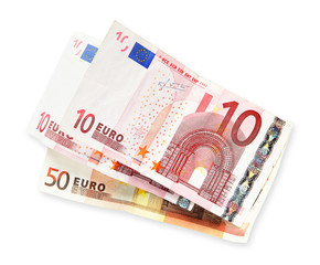 euros white background