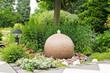 canvas print picture - Sprudelbrunnen im Garten