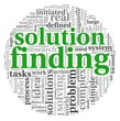 Solution finding in word tag cloud on white