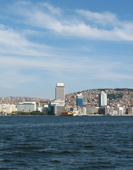 View on Izmir downtown