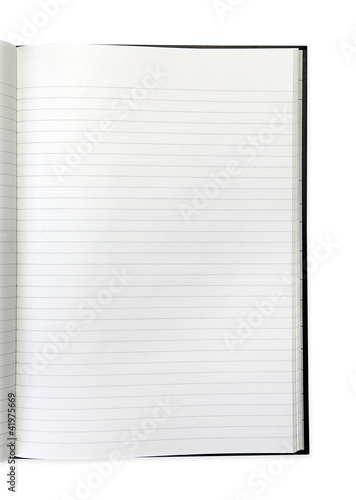 lined page white background