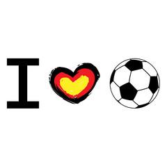 I heart football, deutsch