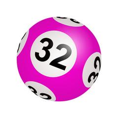Tirage loto, boule numéro 32