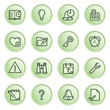 Organizer web icons. Green series.