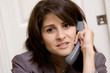 Frustrated business woman on the phone