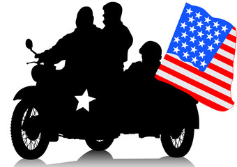 American military motorcycle