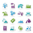 different kind of business and industry icons - vector icon set