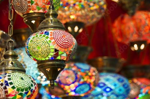 Aluminium Turkey Lampes orientales au Grand Bazar d'Istambul - Turquie