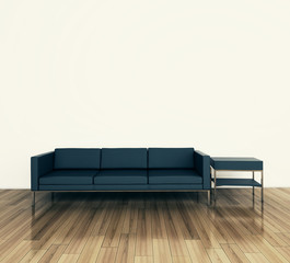 minimal modern interior couch and table