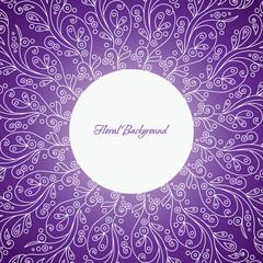 Ornamental round floral pattern