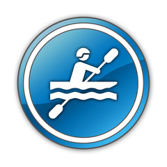 "Glossy Button ""Kayaking"""