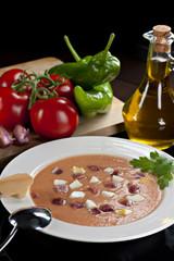 Salmorejo Cordobés, spanische kalte Tomatencreme