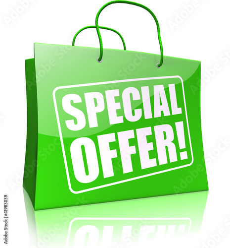 shopping bag SPECIAL OFFER, green