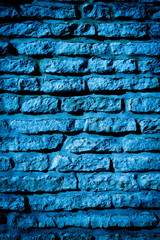 Blue stone wall