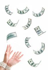 Hands tied dollars
