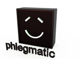 Square mimics the phlegmatic on a white background poster