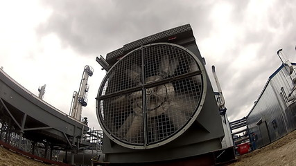 A huge fan at Gas processing