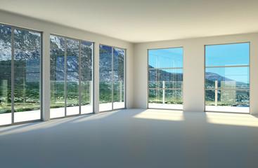Wohndesign - Loft mit Ausblick