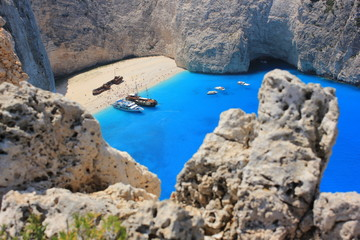 Navagio beach, Zante island, Greece