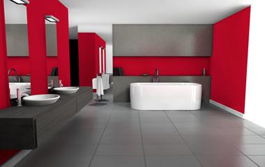 Bathroom Red Design