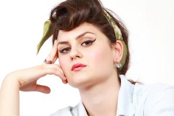 Thinking girl