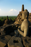 Buddha Statue in Borobudur, Java, Indonesia